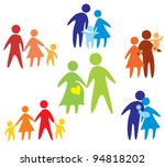 happy family icons collection... | Shutterstock .eps vector #94818202