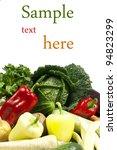 fresh vegetables isolated on... | Shutterstock . vector #94823299