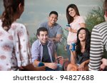 group of six happy young people ... | Shutterstock . vector #94827688