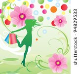 spring and summer flowers sale... | Shutterstock .eps vector #94829533