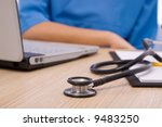 medical concept with... | Shutterstock . vector #9483250