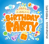Birthday Party Design Template...
