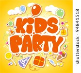 kids party design template. | Shutterstock .eps vector #94841518