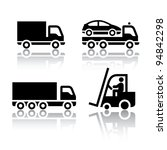 Set of transport icons - truck