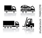 set of transport icons   truck | Shutterstock .eps vector #94842298