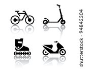set of transport icons  ... | Shutterstock .eps vector #94842304