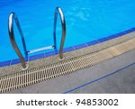 swimming pool  handle with blue ... | Shutterstock . vector #94853002