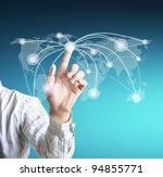 social network structure | Shutterstock . vector #94855771