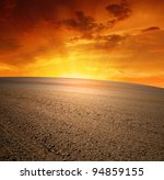 spring field in the sunset | Shutterstock . vector #94859155