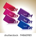 design template numbered tablets | Shutterstock .eps vector #94860985