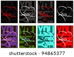 love and heart   typography... | Shutterstock .eps vector #94865377
