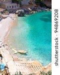 sa calobra beach from high... | Shutterstock . vector #94869208