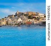 Ibiza Eivissa Town With Blue...