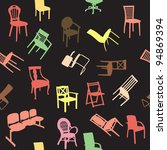 big set of home chair... | Shutterstock . vector #94869394
