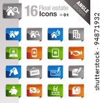 angle stickers   real estate...   Shutterstock .eps vector #94871932