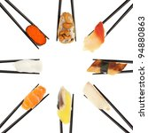 8 different types of sushi... | Shutterstock . vector #94880863