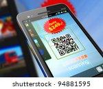 macro view of smartphone... | Shutterstock . vector #94881595