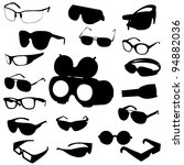 glasses and sunglasses set.... | Shutterstock . vector #94882036