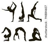 Yogi Positions Silhouettes On...