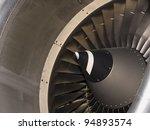 aircraft intake closeup details ... | Shutterstock . vector #94893574