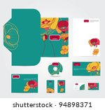 vector corporate style with... | Shutterstock .eps vector #94898371