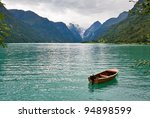 the norwegian landscape with a... | Shutterstock . vector #94898599