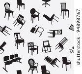 big set of home chair... | Shutterstock . vector #94898767