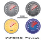 set of mph and kph speedometers ... | Shutterstock .eps vector #94902121