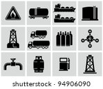 natural gas icons set. | Shutterstock .eps vector #94906090