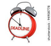 alarm clock  deadline isolated... | Shutterstock . vector #94908778