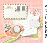 scrapbook elements in vintage...   Shutterstock .eps vector #94913125
