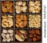 assorted nuts nine varieties... | Shutterstock . vector #94919767