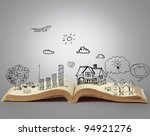 book of fantasy stories | Shutterstock . vector #94921276