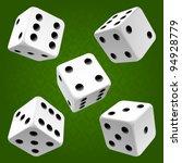 vector white dice set on green... | Shutterstock .eps vector #94928779