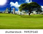 big tree and city | Shutterstock . vector #94929160