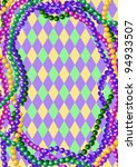 mardi gras beads background... | Shutterstock .eps vector #94933507