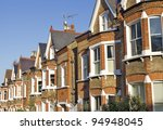 Row Of Typical English Houses...