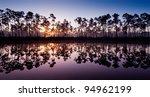 Dawn At Long Pine Key Lake In...