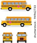 school bus  in vector   set  32  | Shutterstock .eps vector #94962733
