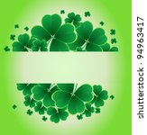clover background for the St. Patrick's Day - stock vector