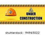 illustration of hard hat on... | Shutterstock .eps vector #94965022