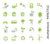 vector icon set energy   green... | Shutterstock .eps vector #94967512