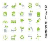 vector icon set energy   green... | Shutterstock .eps vector #94967512
