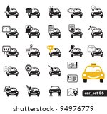Car service icons, set - stock vector