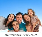 group of happy smiling friends  ... | Shutterstock . vector #94997839