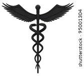 medical caduceus symbol in... | Shutterstock . vector #95001304