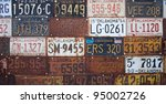 group of vintage old american... | Shutterstock . vector #95002726