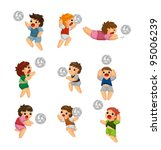 playing volleyball people | Shutterstock .eps vector #95006239