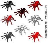 set tattoo of black widow...   Shutterstock .eps vector #95006824