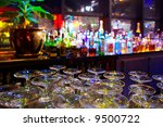 glasses and assorted colorful... | Shutterstock . vector #9500722